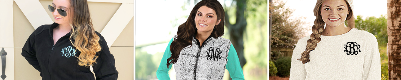 Monogrammed Pullovers and Sweatshirts