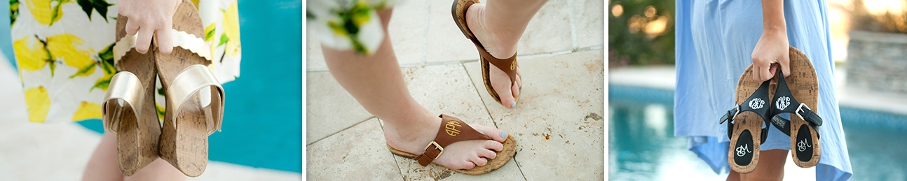 Personalized Sandals and Monogrammed Boots