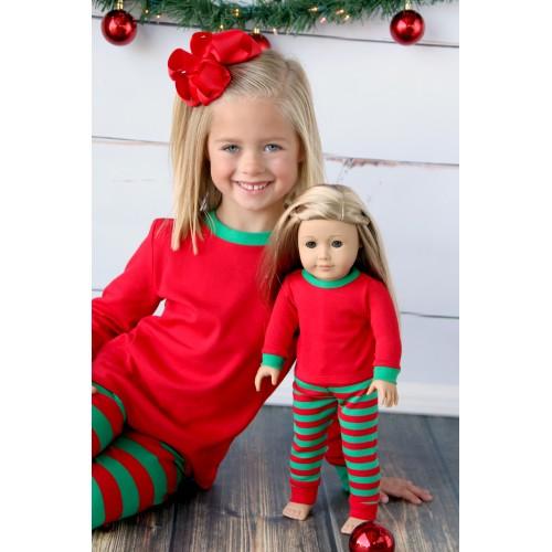 monogrammed christmas pajamas for kids