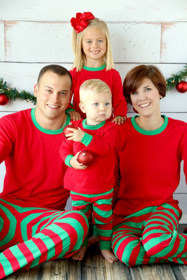 Monogrammed Christmas Pajamas for Kids
