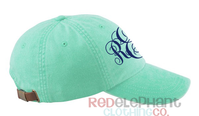 monogram baseball hat for ladies