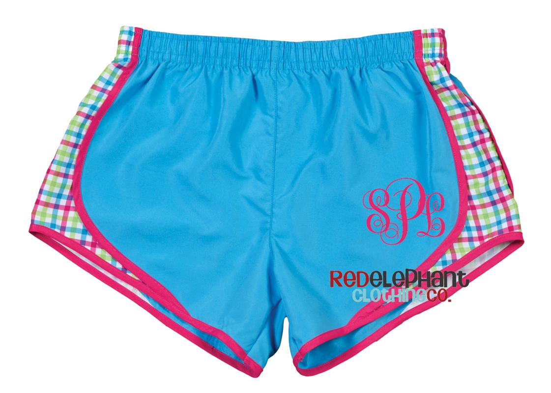 monogrammed running shorts