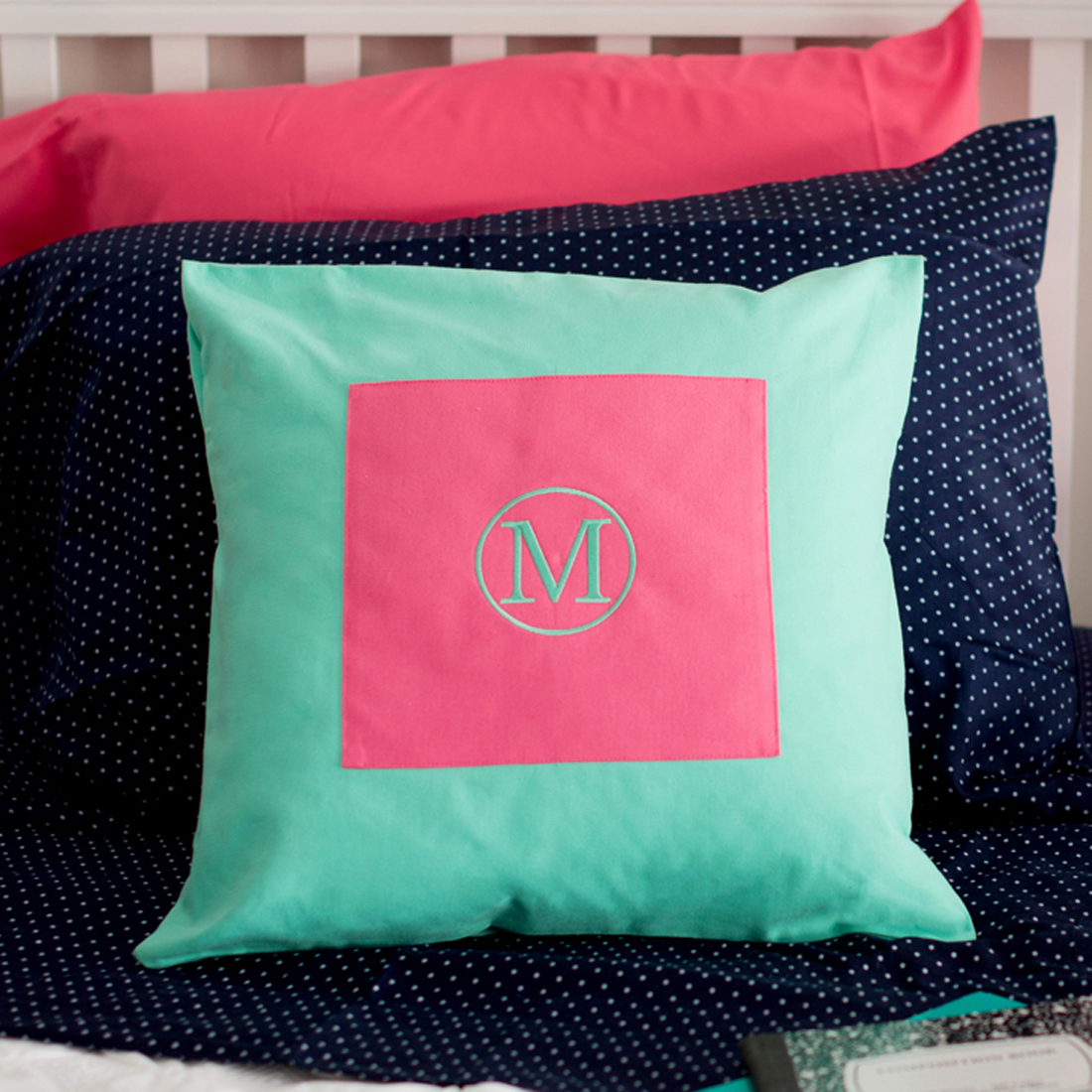 Monogrammed Throw Pillow Covers : Monogrammed Pillow Covers Embroidered Monogrammed Pillow Throw Pillow