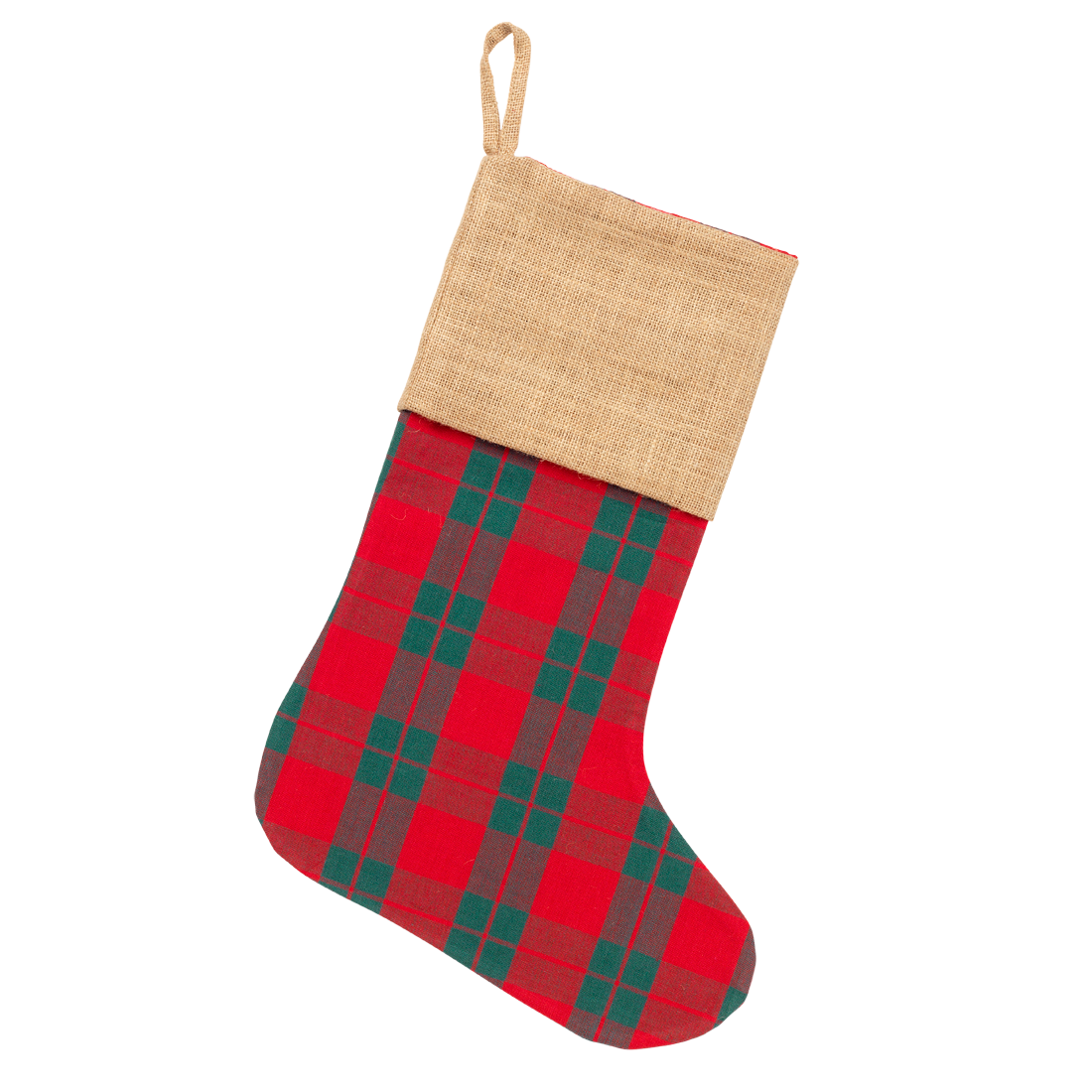 Plaid Christmas Stocking Monogrammed Christmas Stockings