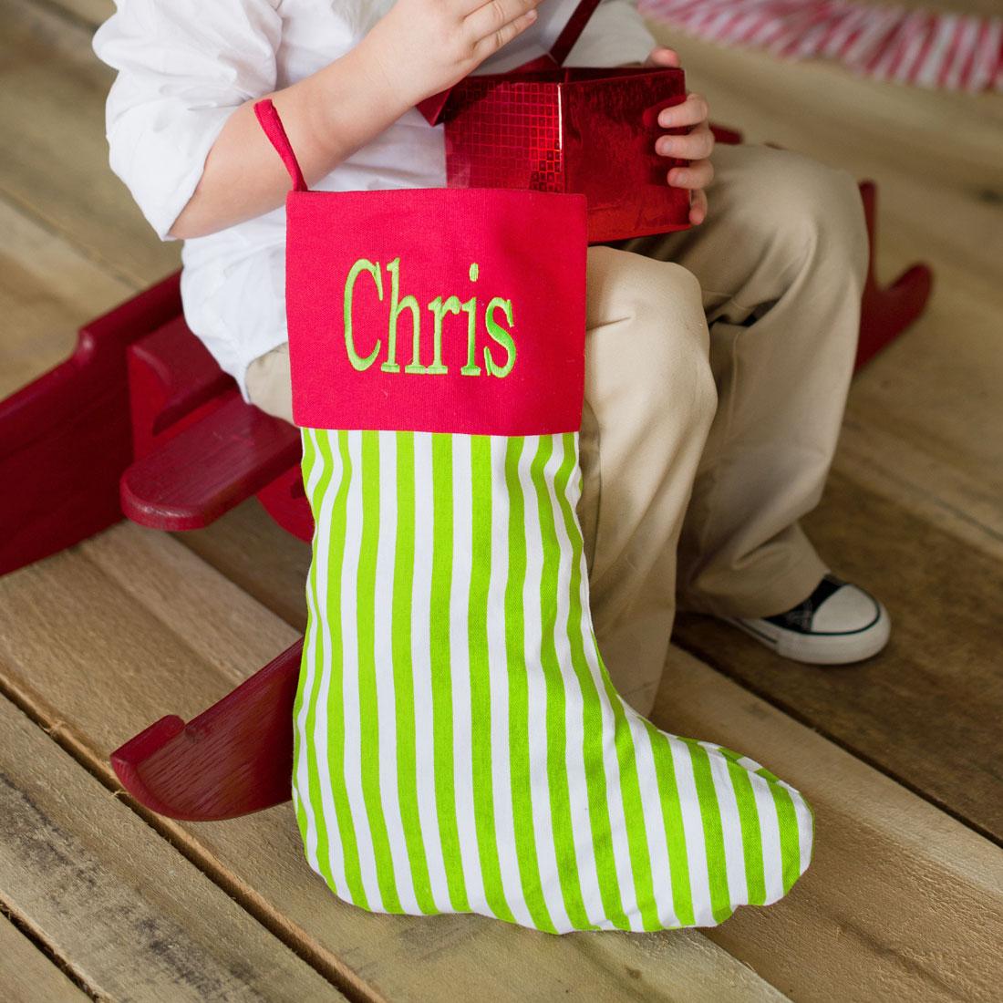 striped christmas stockings