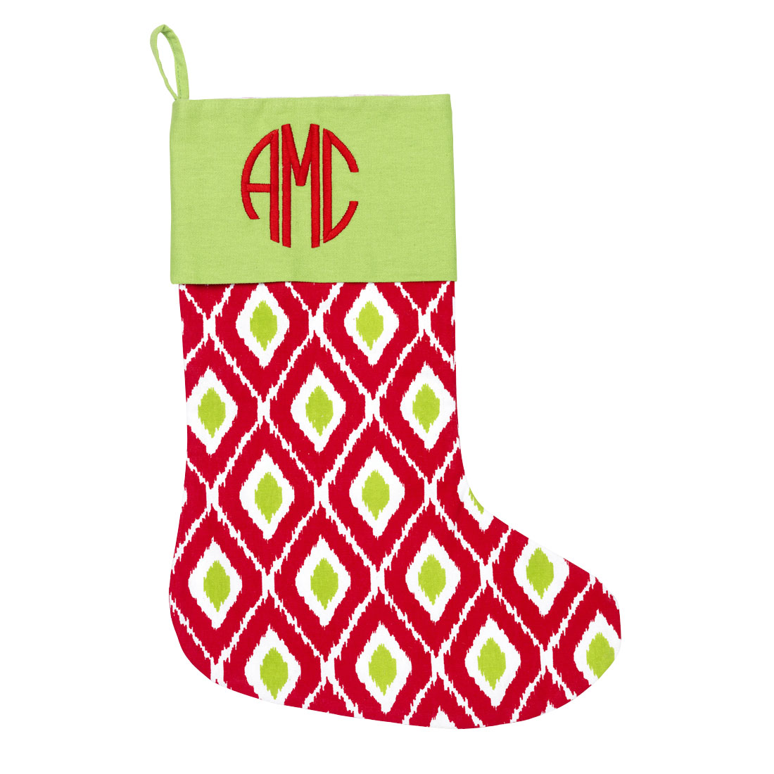 Ikat Christmas Stocking Monogrammed Christmas Stockings