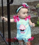 birthday cupcake bubble romper