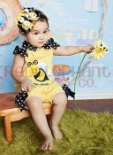 bumble bee bubble romper