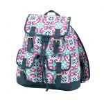 Monogrammed Backpack - Navy Greey Key