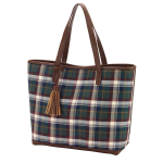 Monogram Plaid Purse