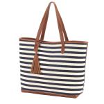 Monogram Stripe Tote Bag