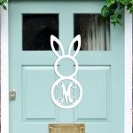Wooden Monogram Easter Bunny