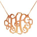 Monogram Cutout Necklace