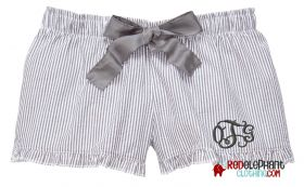 Monogram Seersucker Shorts