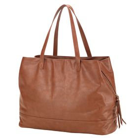 Vegan Leather Travel Bag- Blush