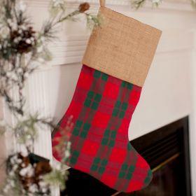 Plaid Christmas Stocking | Monogrammed Christmas Stockings ...