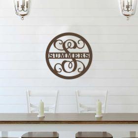 Wooden Monogram Sign