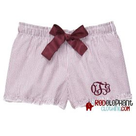 Monogram Seersucker Shorts