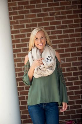 personalized infinity scarf