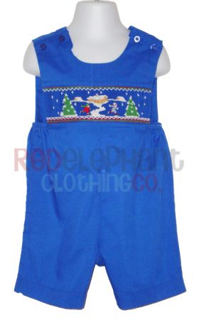 Smocked Christmas Jon Jon for boys