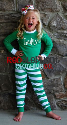 Monogrammed Christmas Pajamas