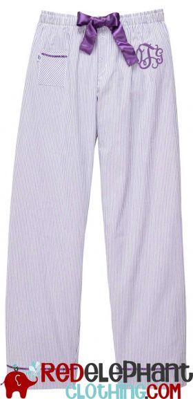 Monogram Seersucker Pants