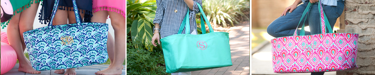 Monogram Utility Tote Bag
