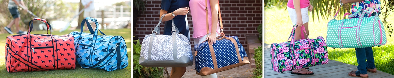 Monogrammed Duffle Bags