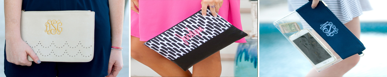 Monogrammed Clutch Purses