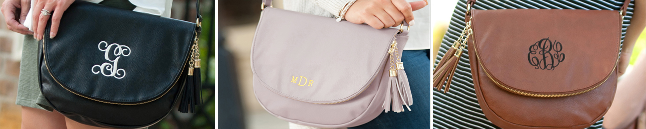 Monogrammed Vegan Leather Purse