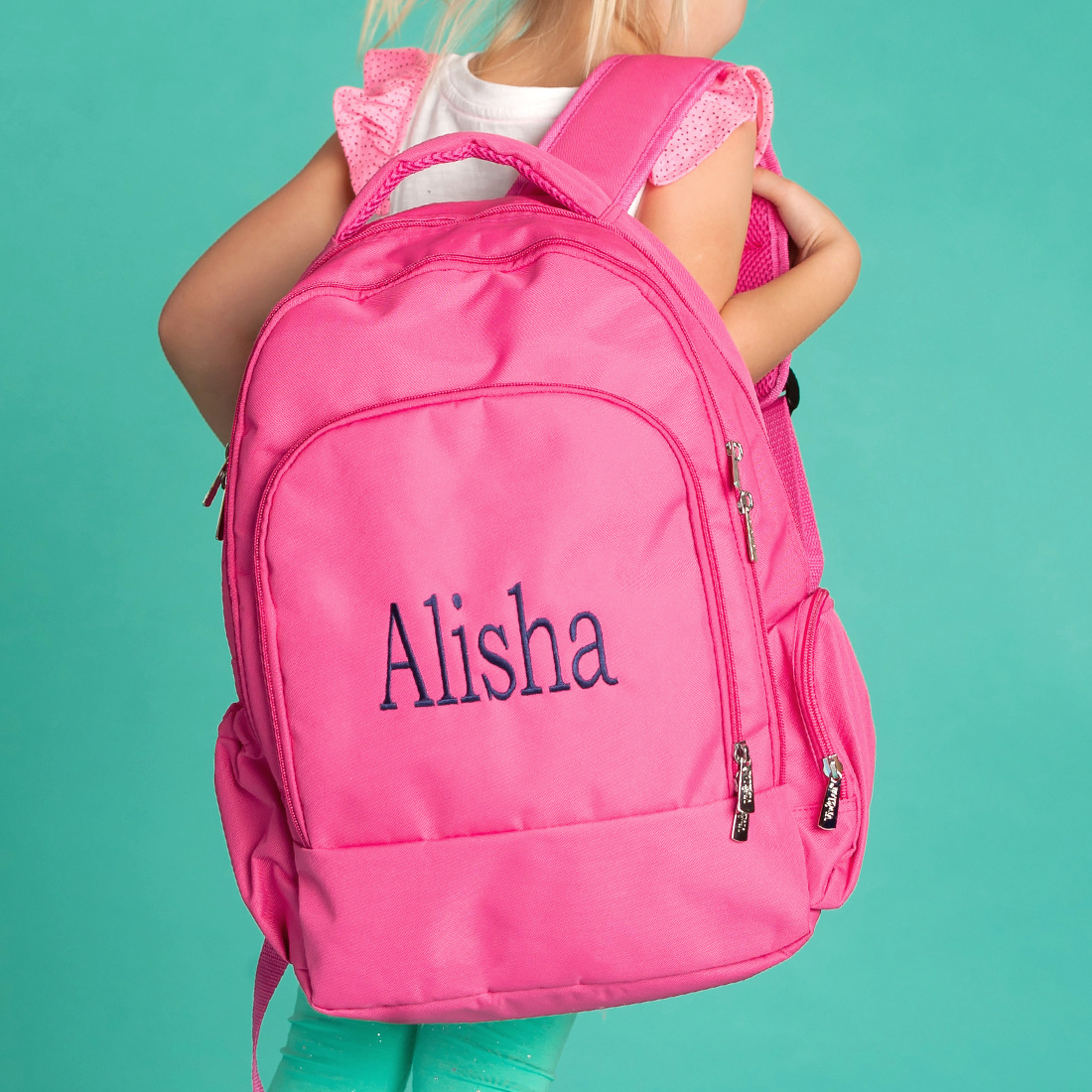 Monogrammed Backpack Solid Mint Backpack Backpack Viv /& Lou,