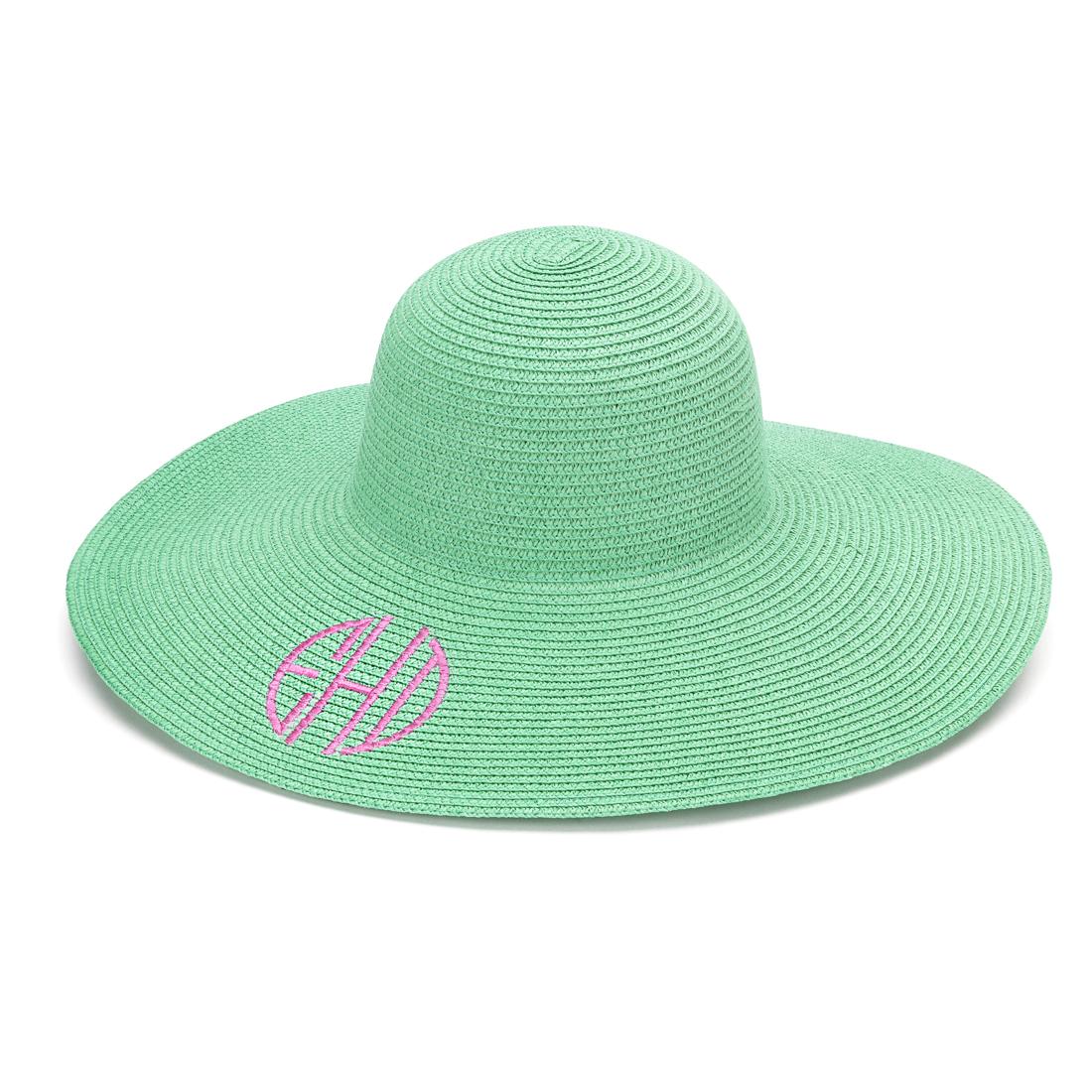 469cfc2a6f441 Monogrammed Floppy Beach Hat