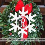 Wooden Monogram Snowflake