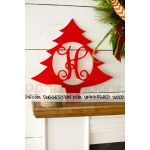 Wooden Monogram Christmas Tree