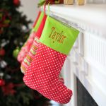 Merry Dots Christmas Stocking