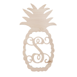 Wooden Monogram Pineapple