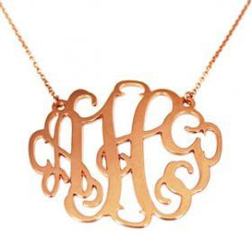 Monogram Cutout Necklace