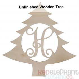Unpainted Wooden Tree