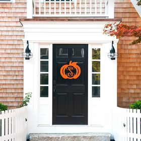wooden monogram pumpkin
