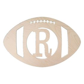 Wooden Football Sign