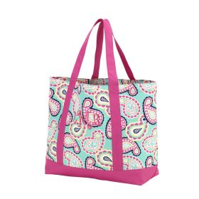 Monogram Tote Bag - Paisley