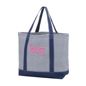 Monogram Tote Bag - Navy