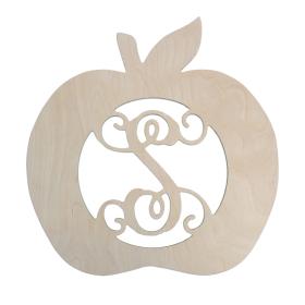 Unpainted Wooden Apple