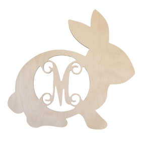 Unpainted Wooden Easter Bunny