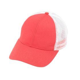 monogrammed trucker cap - Coral