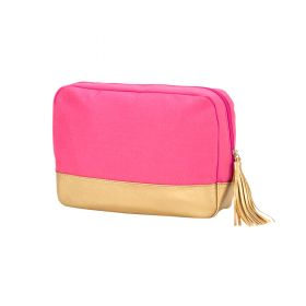 Canvas Cosmetic Bag - Pink