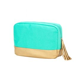 Canvas Cosmetic Bag - Mint