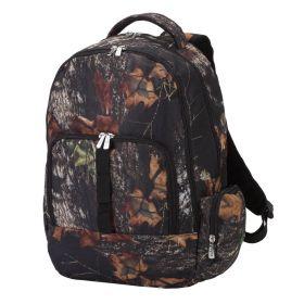 Monogrammed Woods Camo Backpack