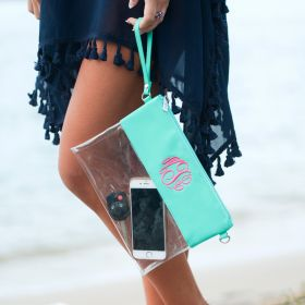 Clear Clutch - Mint