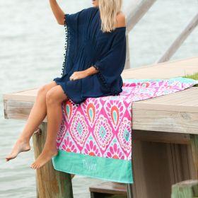 monogram beach tunic